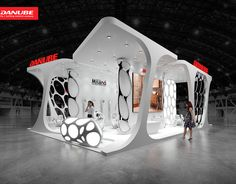 Danube, exhibition stand on Behance Exhibition Stall Design, Exhibition Space, Exhibit Design, Exhibition Stands, New Technology Gadgets, Futuristic Design, Stand Design, Commercial Interiors, Branding Design