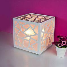 Criativo abajur Home Design minimalista moderno Sala de estar Night Light oca-Out Sombra Esculpido – BRL R$ 102,56
