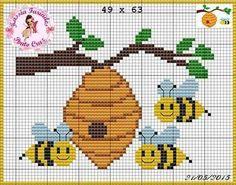 Χειροτεχνήματα: Μέλισσες για κέντημα  / Bee cross stitch patterns