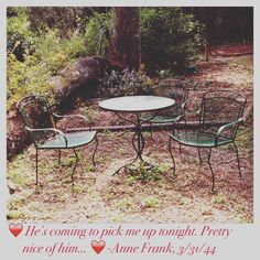 ❤️Peter came to pick Anne up on the night. That was pretty nice of him. Anne Frank Quotes, Outdoor Furniture Sets, Outdoor Decor, Night, Pretty, Home Decor, Decoration Home, Room Decor, Home Interior Design