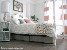 Kammy's Korner: Stylish Under-The-Bed Storage from dresser drawers with ball bearings