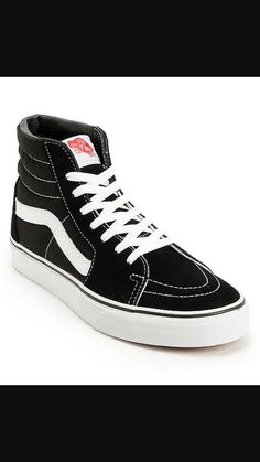22945555886 The Vans shoes are a must have retro staple in any wardrobe. A sleek black  suede and canvas high top upper with contrasting white stitching provides  solid ...