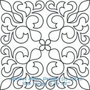 An elegant block design for longarm quilting