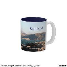 Suilven, Assynt, Scotland - a beautiful calm mountain scene on a tea / coffee mug