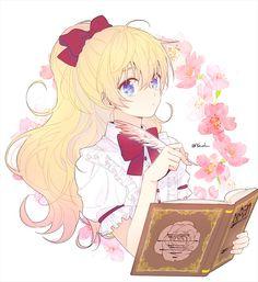 Athanasia De Alger Obelia - Who Made Me A Princess - Image - Zerochan Anime Image Board Pretty Anime Girl, Beautiful Anime Girl, Kawaii Anime Girl, Anime Art Girl, Anime Love, Manga Girl, Blonde Hair Anime Girl, Elfa, Anime Child