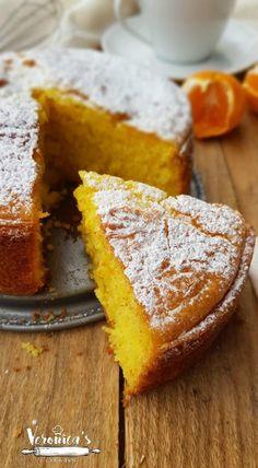 TORTA AI MANDARINI FRULLATI Fruit Recipes, Baking Recipes, Sweet Recipes, Dessert Recipes, Cupcakes, Cake Cookies, Sweet Light, Tortillas Veganas, Orange Dessert