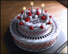 Birthday Cake! - 3D Art by Shashank Mehta in 3d Scenes at touchtalent