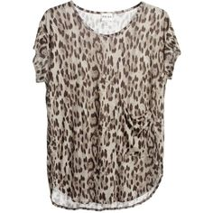 Paloma OVERSIZED T-SHIRT (175 BRL) ❤ liked on Polyvore featuring tops, t-shirts, women, curved hem t shirt, rayon t shirts, brown top, rayon tops and brown t shirt