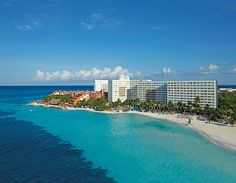 Aerial shot of Dreams Sands Cancun Resort & Spa ~ Unlimited Vacation Club
