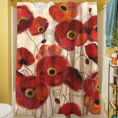 Bold Poppies Shower Curtain