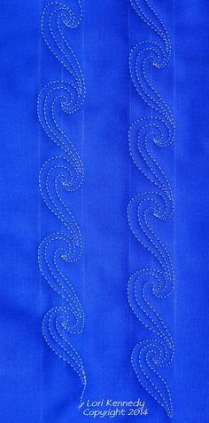 Free Motion Quilting Tutorial-The Wave.  Turn so pattern is horizontal