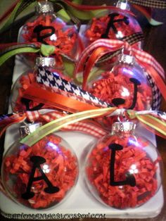 gift ideas... cute. super easy & inexpensive to make! (get list of names from mrs jones.)
