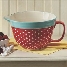 I never really thought about decorating my kitchen with polka dots until I started finding polka dot kitchen items.