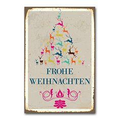 "weihnachtliche Wanddekoration Blechschild ""frohe Weihnachten / Weihnachtsbaum"" / ca. 30x45 cm / Weihnachtsdeko / vintage Cuadros Lifestyle http://www.amazon.de/dp/B00PAILELG/ref=cm_sw_r_pi_dp_y8Yyub0W13QA4"