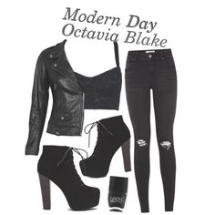 ♡ Modern Day Octavia Blake ♡ by wewillfindawaythroughthedark on Polyvore featuring mode, Dolce&Gabbana, VIPARO, Nails Inc., modern, modernau, the100, octaviablake and moderndaystyle