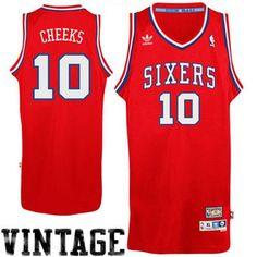 6db23df35a1 Mens Philadelphia 76ers Maurice Cheeks adidas Red Hardwood Classics Soul  Swingman Throwback Jersey Discount Nike Shoes