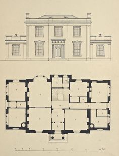 Design for a Country House, England