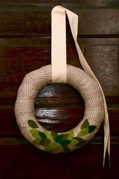 Baker's Twine wrapped wreath