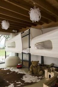 bunk sleep pods- could make zippered cover to protect from dust?