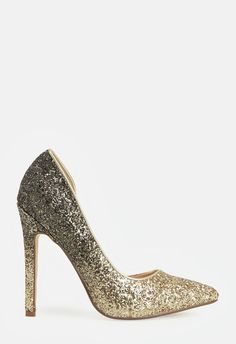 A sassy and fun pump featuring a pointed toe and ombre glitter design.  ...