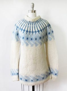 fair isle sweater vintage 60s nordic sweater by RustBeltThreads