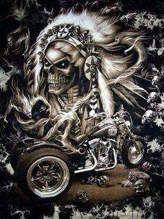 Old school vintage styled biker tattoos Motorcycle Art, Bike Art, Motorcycle Posters, Dark Fantasy Art, Dark Art, Digital Art Illustration, Art Harley Davidson, Grim Reaper Art, Totenkopf Tattoos