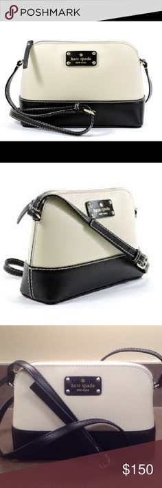 Kate Spade Wellesley Berkeley crossbody Kate Spade Wellesley Berkeley lane Hannah crossbody in great condition. Zippers at the top and one small pocket inside for cards or change. Love this bag great for a light carry around and night going out. 9 x 6.5 x 3 kate spade Bags Crossbody Bags