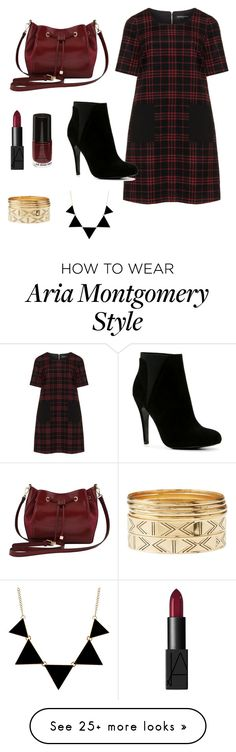 """Aria Montgomery PLL"" by josefine-holmer on Polyvore featuring Manon Baptiste, ALDO, M&Co, NARS Cosmetics and Charlotte Russe"
