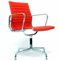 Eames Style EA 108 Conference Chair - Red Leather