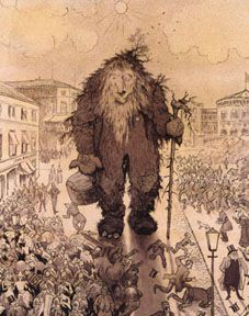 Norway -- done around 1905 give or take -- by the beloved Troll painter / illustrator from Norway: Theo KITTELSEN.