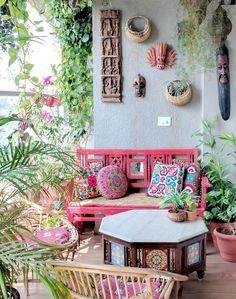 A Balcony Garden In Mumbai: Terrace Reveal - Balkon Garten 100 Apartment Balcony Garden, Small Balcony Garden, Small Balcony Decor, Apartment Balcony Decorating, Balcony Gardening, Balcony Plants, Small Patio, Gardening Blogs, Indoor Plants