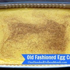 A big thank you to Zoe who recommended I use her grandmother& egg custard recipe to use up a bunch of our fresh eggs. I don& know about you, but I LOVE, LOVE, LOVE using old recipes. Mainly because the ingredient list is simple, and I typically have. Pudding Desserts, Custard Desserts, Pudding Recipes, Just Desserts, Custard Pies, Egg Pudding Recipe, Egg Desserts, Fruit Custard, Holiday Desserts