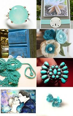 Aqua's with Blue's   ~FREE BIRDs~ by D' LaGrace on Etsy--Pinned with TreasuryPin.com
