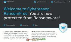 Cybereason RansomFree 2.1.0.0  Cybereason RansomFree--Welcome to Cybereason RansomFree.--オールフリーソフト
