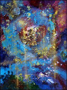 abstract paintings | Abstract Acrylic Art|Mixed Media|Antares Heart