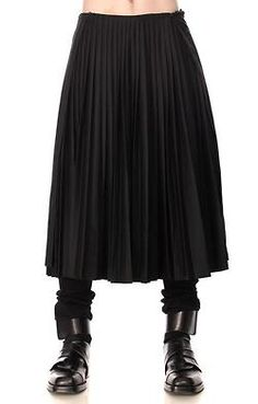 Giuliano Fujiwara Long Pleated Men's Skirt