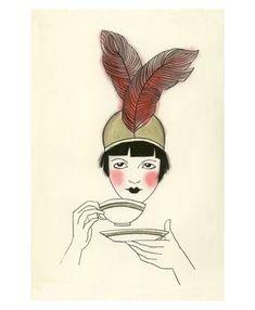 Art Deco print jaren 1920 Art Deco art print door matouenpeluche