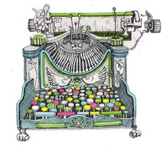 Finished Sketch/design for magical typewriter used in my current story, photo refference used for mechanical parts. This typewriter is used for writing . Illustrations, Illustration Art, Art Deco Tattoo, Writing Machine, Send A Card, Gray Matters, Music Images, Vintage Typewriters, Favim