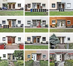 """Typology of """"line houses"""" byArchitect Ernst May- prefabricated architecture intended to be identical. Frankfurt, Germany. Photo by Peter Braunholz.  #bauhaus #architecture"""