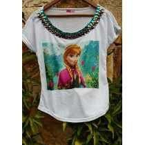 fa54e504282 Encontre T Shirts Bordada - Camisetas e Blusas Manga Curta Femininas no Mercado  Livre Brasil. Descubra a melhor forma de comprar online.