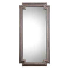 ART DECO RUSTIC GREY LARGE SOLID  TIMBRE FRAME  FLOOR MIRROR, Decorative Mirrors