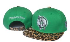 NBA Boston Celtics Snapback Hats Caps Leopard Grain Snakeskin Green ID:2073