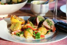Svinefilet med salsa verde og potetsalat