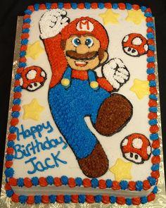 mario brothers birthday cake | Mario Cakes – Decoration Ideas