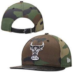 Chicago Bulls New Era Black Woodland Camo 9FIFTY Woodland Crocodile Adjustable  Hat 23aa1d92f