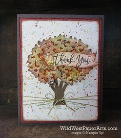 Glitter paper behind the tree, so pretty. Thoughtful Thank You - Wild West Paper Arts