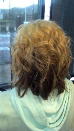 Reverse ombre  Hair by E.B. Brown Strawberry Blonde Salon Owensboro, Kentucky