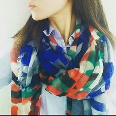 I.P.P by Airfuwa 迷彩ストール 2枚巻き #グリーン×レッド #ブルー×ブルー