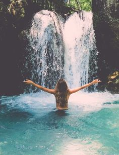 Things one should have done at least once in a lifetime? Standing underneath a water fall in the middle of the jungle.  www.potofgold-skincare.com