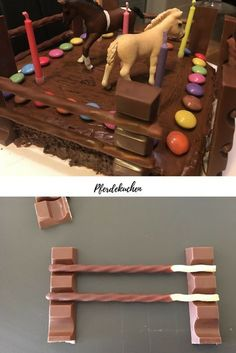 A juicy horse cake for kids birthday - DIY - Kindergeburtstag - Birthday Cake Birthday Cake For Him, Horse Birthday, First Birthday Cakes, Birthday Diy, Cake Mix Cookie Recipes, Cake Mix Cookies, Cake Recipes, Baking Recipes For Kids, Horse Cake